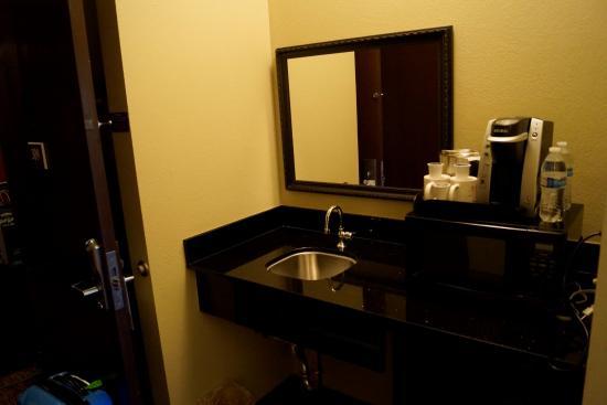 Brentwood Suites Hotel: Spüle/Mikrowelle