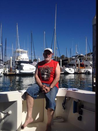 Dana Point, Kalifornia: Myself from the back of a boat.