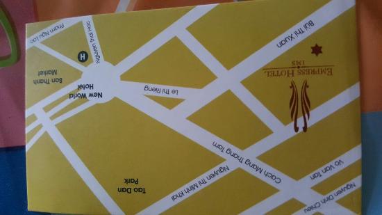 โรงแรมเอ็มเพรส: Road Map to the Empress Hotel