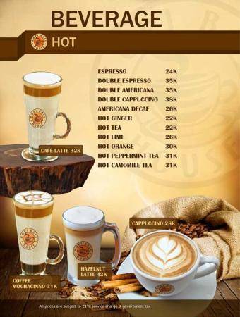 Kopi Bali House: HOT COFFEE