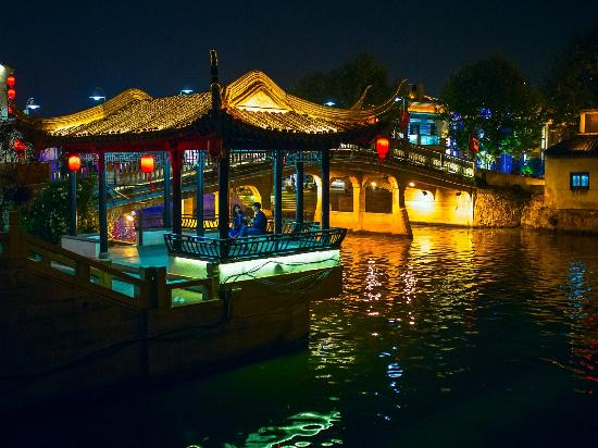 Wuxi, China: Grand Canal Night View