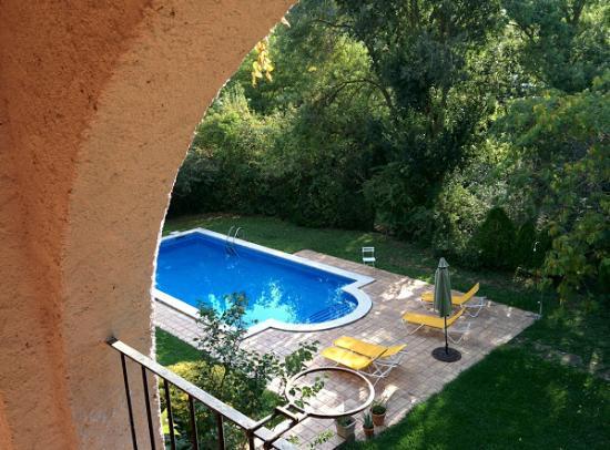 Serinyà, España: The swimming pool from the terrace.