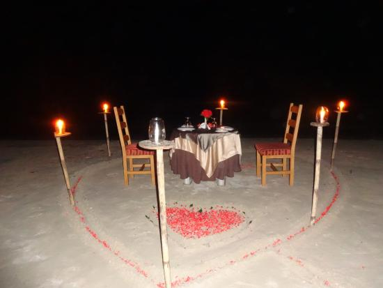 Silver Sand Beach Resort Candle Light Dinner At