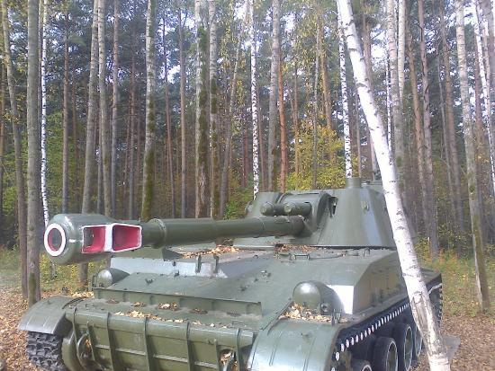 """AVS Hotel: Один из """"танков"""" у отеля (вообще-то это САУ 2С3)"""