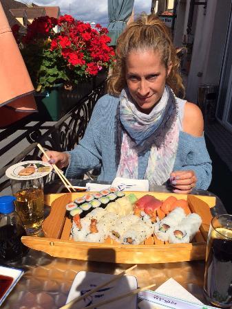 Gingko: Super Sushi auf dem Balkon