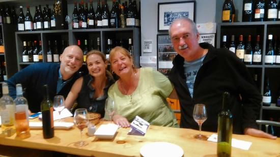 Cocoa & Grapes - Chocolate and Wine Tasting Tours & Events : Our lovely C&G Tour group on 15 Sept 2015,  at Lache Pas La Grappe Wine Bar