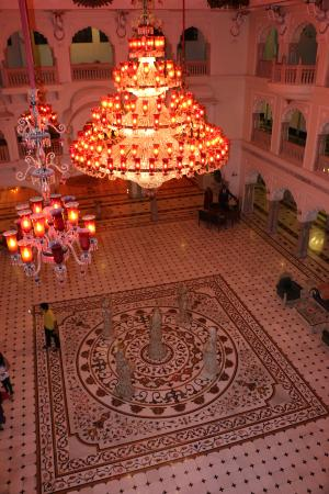 The Shiv Vilas: lobby view from top