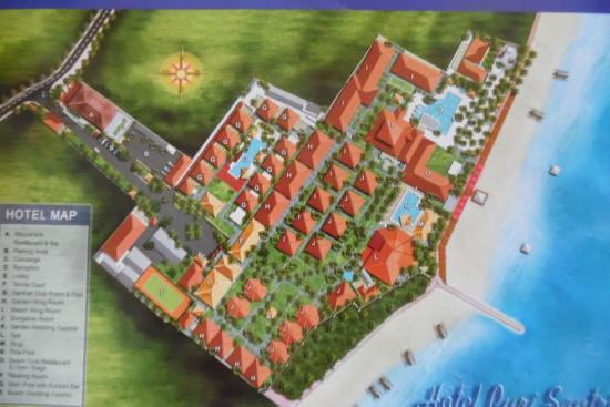 Puri Santrian : Hotelplan