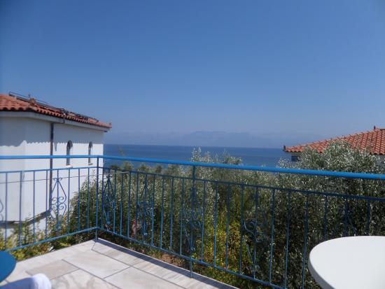 Petalidi, Greece: vue du balcon de la chambre