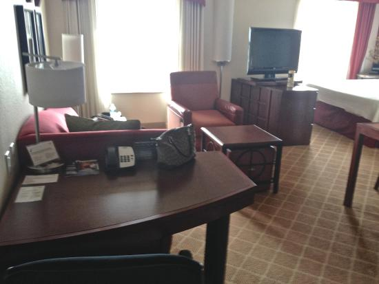 Residence Inn Dothan: Sofa, desk and side chair for plenty of seating