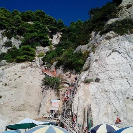 Strand von Egremni: Σκαλιά, άνοδος!