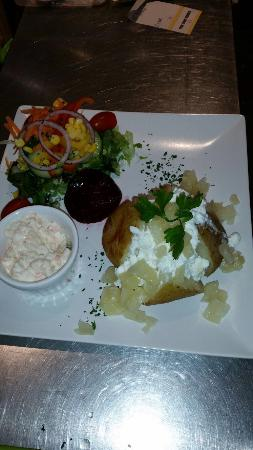 my jacket potato with cottage cheese and pineapple picture of