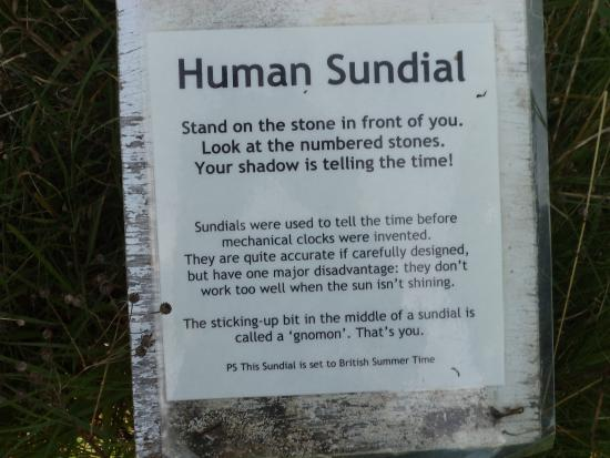 Natural Surroundings: sun dial - directions for use