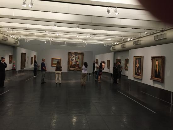 Museu De Arte De Sao Paulo Assis Chateaubriand Masp Magnificent Temporary Exhibitions Hall At