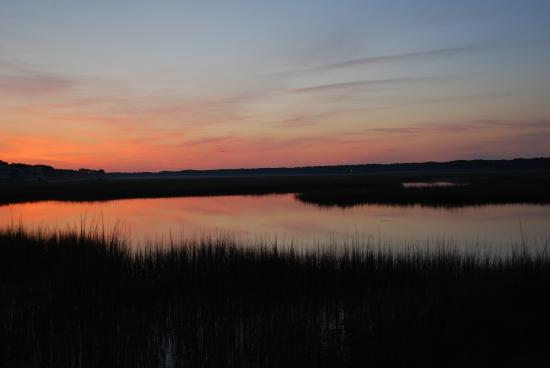 Anchor Inn: Sunset at Chincoteague