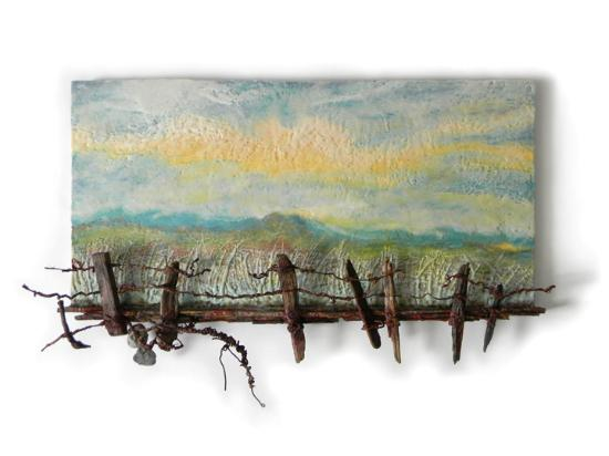 Bloomfield, Kanada: A Measure of Quietude - Encaustic & Mixed Media by Andrew Csafordi