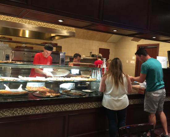 Original Michelangelo Pizzeria & Restaurant: So many different varieties of pizza's to order and great selection of by-the-slice as well.