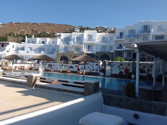 Manoulas Mykonos Beach Resort Poolside