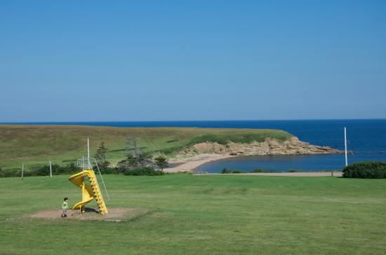 Margaree Harbour, Canadá: view of beach from cabins