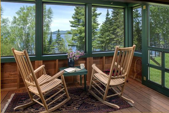 Niboban Sporting Camps: A view of Rangeley Lake from our porch