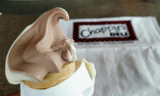 Chappy's Deli - Perry Hill: Free soft serve with every meal.