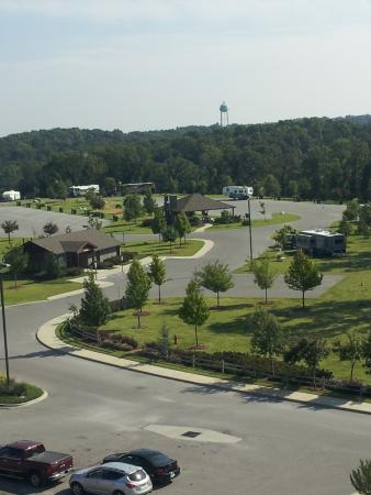 Wyandotte, OK: view towards RV area