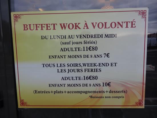 Chaumont, Frankrike: les tarifs