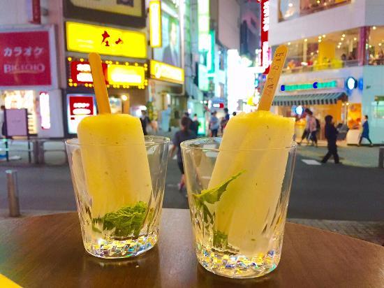 Pronto Shibuya: Mojito Cocktail ice bar overlooking Shibuya