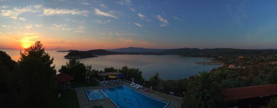 Agios Nikolaos, Greece: sunrise from our balcony