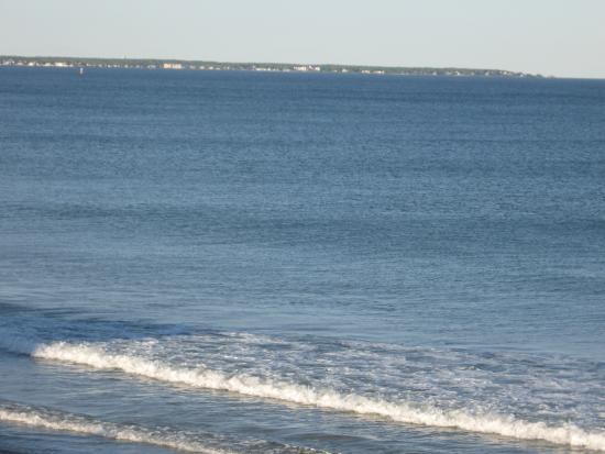 Lafayette's Oceanfront Resort: view from deck, Lafayette Resort