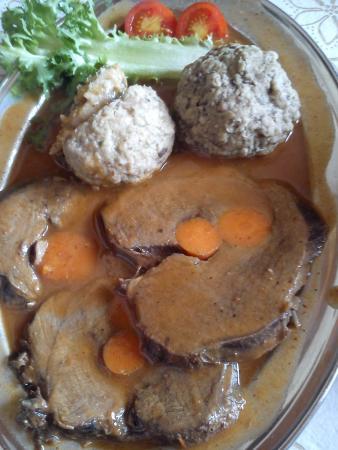 Ristorante Toblhof: Arrosto di Cervo con canederli ai porcini