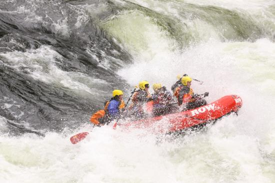Lochsa River Rafting - ROW: Just one of many rapids, Wow !!!