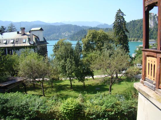 Vila Gorenka : Bled Lake, view from my room - last one on the right on first floor.