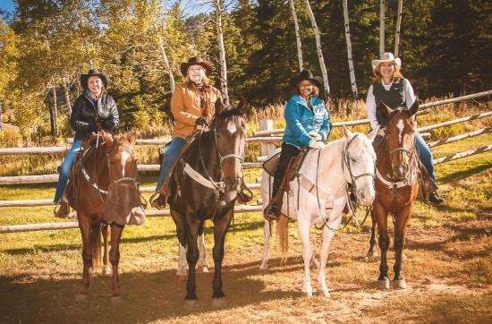Kelly, WY: Horseback Riding in the Gros Ventre Mountain Range