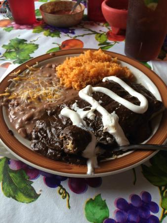 Maya's Restaurant: Best Chicken Mole Enchiladas in the world