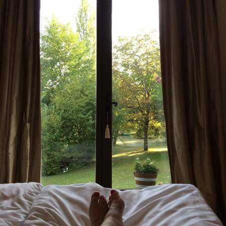 Campsegret, Frankrike: View from our room. Very peaceful.