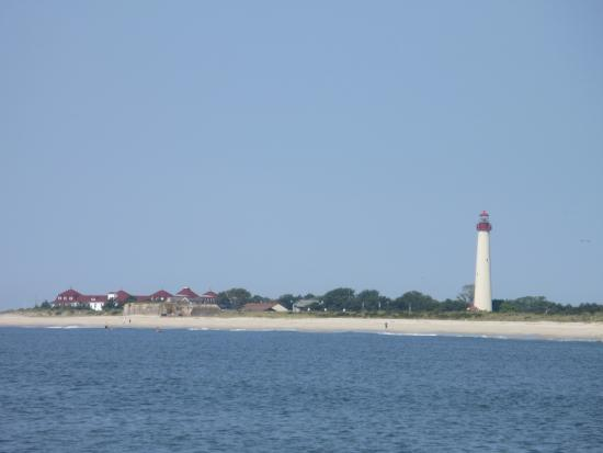 The Lighthouse can be seen from our room at the Jetty Motel.