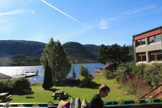 Byglandsfjord, Норвегия: Udsigt fra terrassen