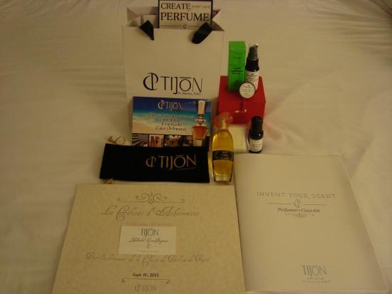 Tijon Perfume Creation Experiences: Goodies!