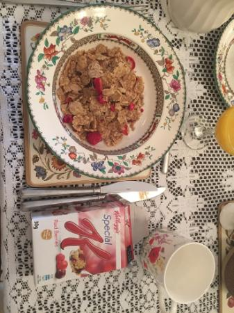 Trevone: Breakfast cereal - part of the big breakfast offered by Lin