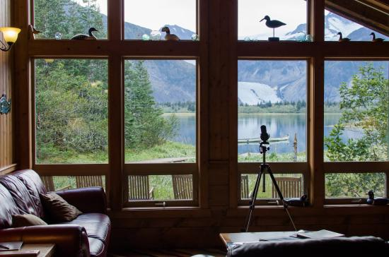 Kenai Fjords Glacier Lodge: View from within the lodge