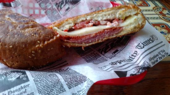 Ashland, AL: Muffaletta sandwich
