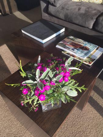 Fresh flowers in the room