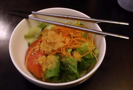 Thai Korner: Salad w/ ginger dressing
