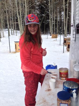 Hesperus, CO: Hot chocolate!