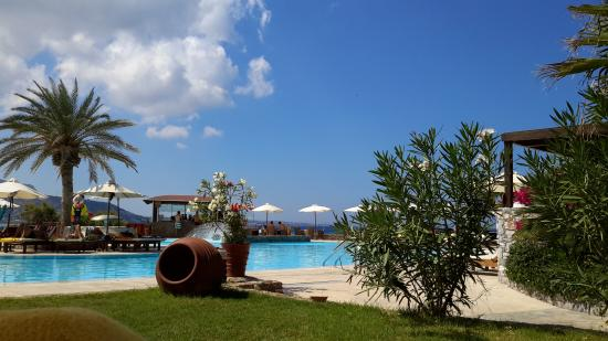 Ikaros Beach Resort Spa Piscine Vue Mer