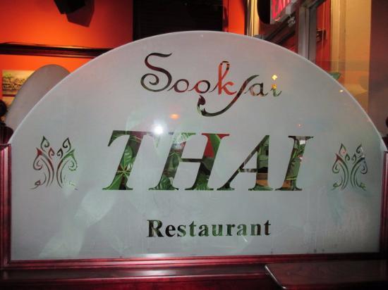 Sookjai Thai Restaurant : Signage