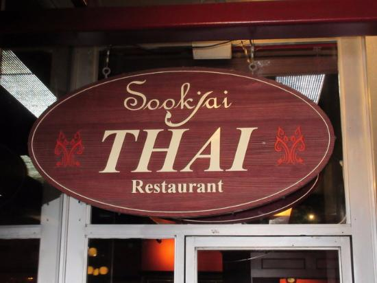 Sookjai Thai Restaurant : Signage at Door