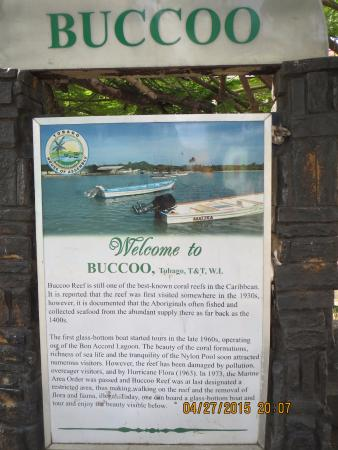 Bellissimo Boutique Hotel: Buccoo Bay Sign