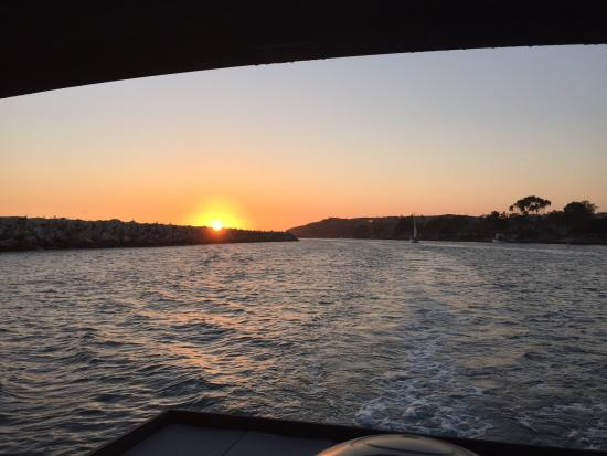 Dana Point, CA: Sunset from the back of the pontoon